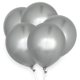 LATEX BALLONNEN 'CHROOM ZILVER' HOUSE OF GIA (10ST)
