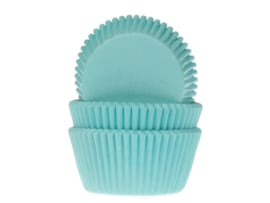 CUPCAKE VORMPJES 'TURQUOISE' HOUSE OF MARIE (50ST)