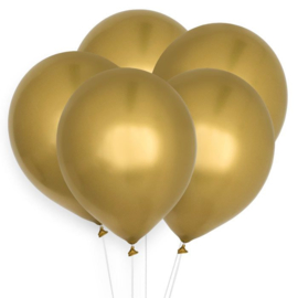 LATEX BALLONNEN 'CHROOM GOUD' HOUSE OF GIA (10ST)