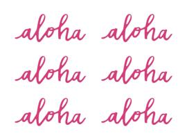 DECORATIE LETTERS 'ALOHA' (6ST)
