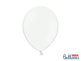LATEX BALLONNEN 'PASTEL PURE WHITE' (100ST)
