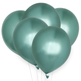 LATEX BALLONNEN 'CHROOM GROEN' HOUSE OF GIA (10ST)