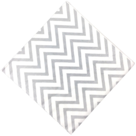 SERVETTEN 'CHEVRON METALLIC ZILVER' (20ST)