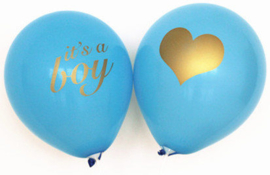 LATEX BALLONNEN 'IT'S A BOY' (10ST)