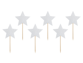 CUPCAKE TOPPERS 'STERREN' MAKE A WISH (6ST)