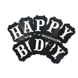 SLINGER 'HAPPY BIRTHDAY ZWART' (1ST)