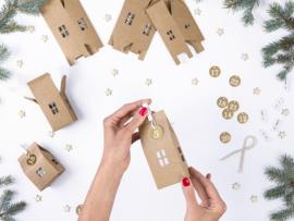 ADVENTSKALENDER 'HUISJES' NATURAL CHRISTMAS (24ST)
