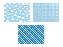 PAPIER PLACEMATS 'MIX DESIGN' LITTLE PLANE (6ST)