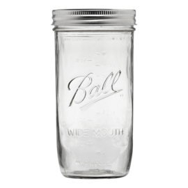 BALL MASON JAR 'PINT 24OZ / 720 ML HALF WIDE MOUTH' (1ST)
