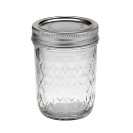 BALL MASON JAR 'QUILTED CRYSTAL JELLY 8OZ / 240 ML' (1ST)