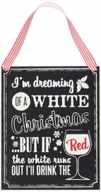 KRIJTBORD HOUT 'WHITE CHRISTMAS' GINGER RAY (1ST)
