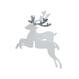 GLASDECORATIE 'RENDIEREN ZILVERGLITTER' GINGER RAY (10ST)