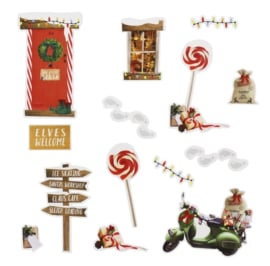 MUURSTICKERS 'ELF' NOVELTY CHRISTMAS - 1 STUKS