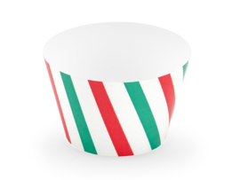 CUPCAKE WRAPPERS 'MERRY XMAS' (6ST)
