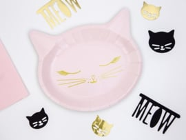 PAPIEREN BORDEN 'KITTY' MEOW PARTY (6ST)