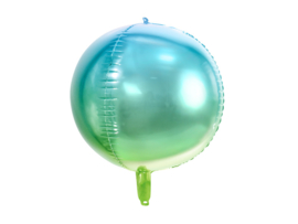 FOLIE BALLON 'OMBRE BLAUW/GROEN' MERMAID PARTY (1ST)