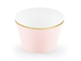 CUPCAKE WRAPPERS 'PASTEL ROZE' (6ST)