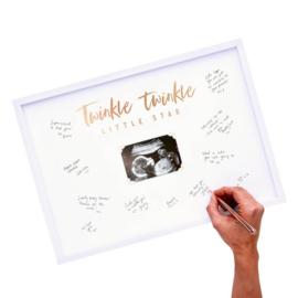 GASTENBOEK FOTOLIJST 'TWINKLE TWINKLE' GINGER RAY (1ST)