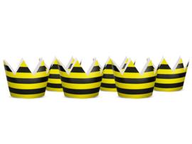 FEESTHOEDJES 'KROONTJE' BEE (6ST)