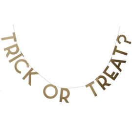 LETTER SLINGER 'TRICK OR TREAT? HALLOWEEN' TRICK OR TREAT PARTY - 1 STUKS
