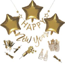FEESTPAKKET 'HAPPY NEW YEAR/GOUD' GINGER RAY (1ST)