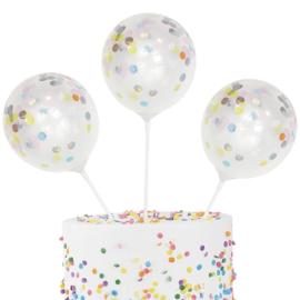 CONFETTI BALLONNEN TOPPER 'PASTEL PARTY' GINGER RAY (5ST)