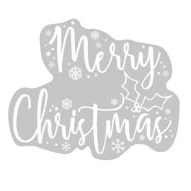 RAAMSTICKER 'MERRY CHRISTMAS' GINGER RAY (1ST)