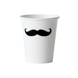 PAPIEREN BEKERS 'MR. MOUSTACHE' (10ST)