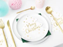 SERVETTEN 'KERSTBOOM' MERRY CHRISTMAS (20ST)