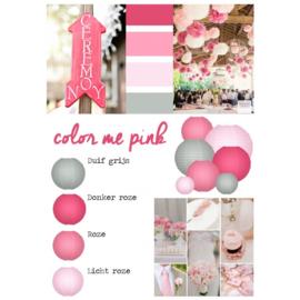 LAMPIONNEN PAKKET (M) 'COLOUR ME PINK' (20ST)