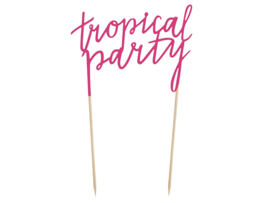 TAARTTOPPER 'TROPICAL PARTY' ALOHA (1ST)