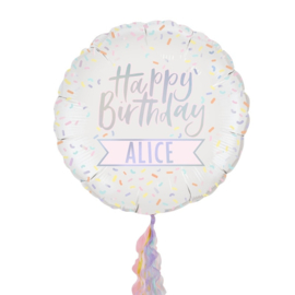 FOLIE BALLON 'HAPPY BIRTHDAY/PASTEL' GINGER RAY (1ST)