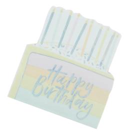 SERVETTEN 'BIRTHDAY CAKE' GINGER RAY (16ST)