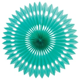 PAPIEREN WAAIERS 'EYELET/TURQUOISE' (1ST)