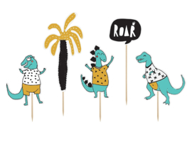 CUPCAKE TOPPERS 'DINO' (5ST)