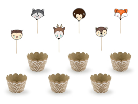 CUPCAKE KIT 'WOODLAND' (6ST)
