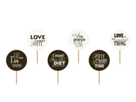 CUPCAKE TOPPERS 'SWEET LOVE' (6ST)