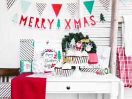 CADEAUZAKJES KRAFT 'MERRY CHRISTMAS' (3ST)