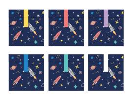 SNOEPZAKJES 'SPACE PARTY' (6ST)