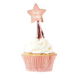 CUPCAKE TOPPERS 'TWINKLE TWINKLE' GINGER RAY (12ST)