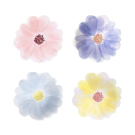 PAPIEREN GEBAKSBORDEN 'FLOWER GARDEN' MERI MERI (8ST)