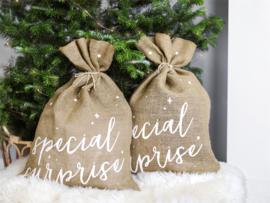 JUTE ZAK 'SPECIAL SURPRISE' NATURAL CHRISTMAS (1ST)