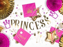CUPCAKE TOPPERS 'KROONTJES' PRINCESS (6ST)