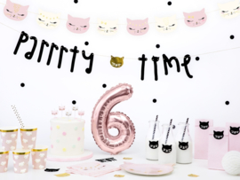 PAPIEREN BEKERS 'KITTY' MEOW PARTY (6ST)