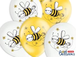 LATEX BALLONNEN 'BEE' (6ST)