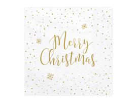 SERVETTEN 'MERRY CHRISTMAS' (20ST)