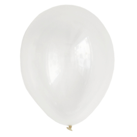 LATEX BALLONNEN 'METALLIC TRANSPARANT' (12ST)