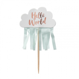 CUPCAKE TOPPERS 'HELLO WORLD' GINGER RAY (10ST)