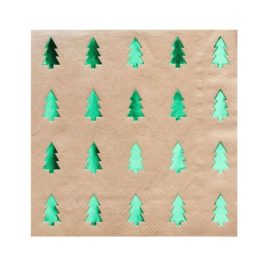SERVETTEN 'CHRISTMAS TREE' RUSTIC CHRISTMAS - 20 STUKS