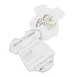 INVULKAARTEN 'OH BABY! BABYSHOWER' GINGER RAY (10ST)